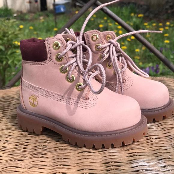 baby girl pink timberlands